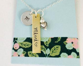 Grandmother Necklace, Grandma Necklace, Mimi Necklace, Mother's Day,  Mom Necklace, Family Necklace
