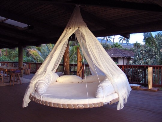 Outdoor hammock bed...Anyone have an old trampoline