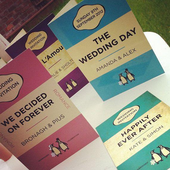 Penguin Books Classics Themed Retro Wedding by MartyMcColgan