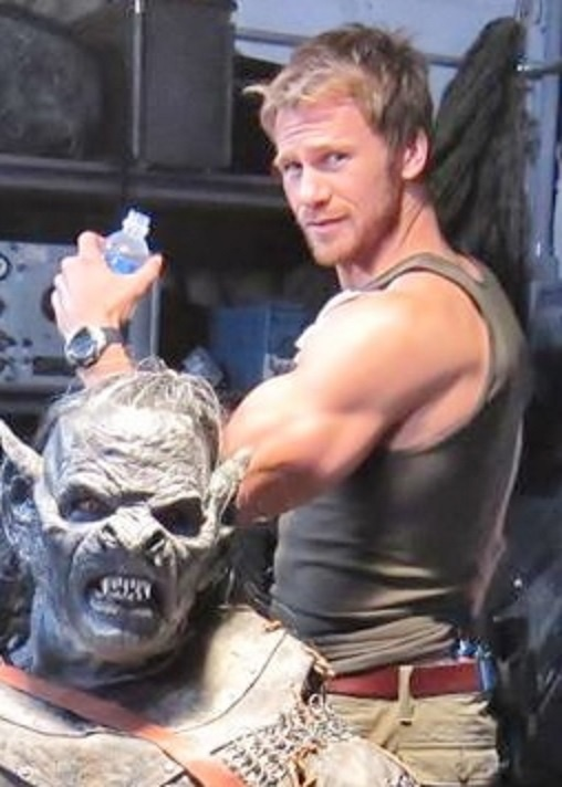 Rusty with one of the actors in Orc makeup and costume for the movie Orc Wars #ArrowStormEntertainment