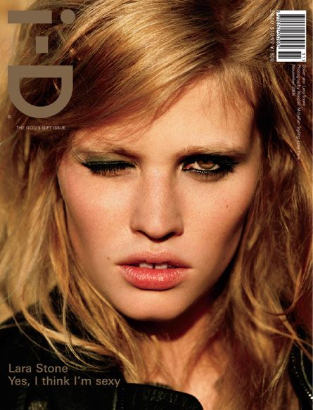 i-D November 2008Lara Stones, Gift, November, Gap Tooth, Body Image, Pets, Dutch Supermodels, Eyebrows, Magazines Covers