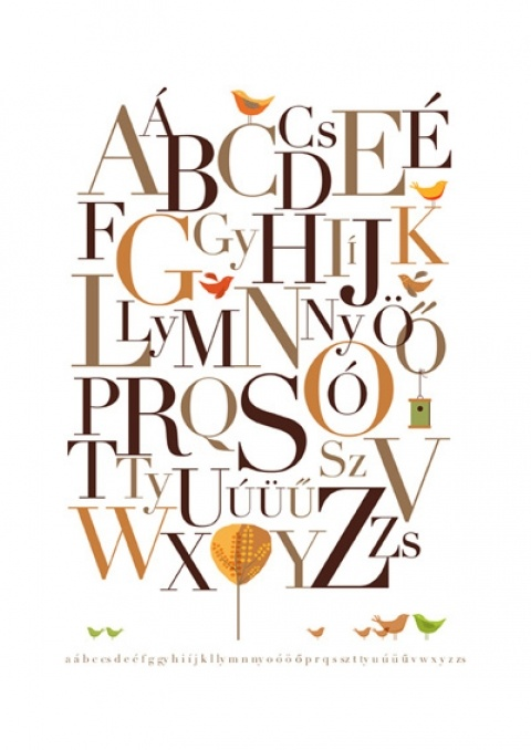 All my kids will learn this-hungarian abc