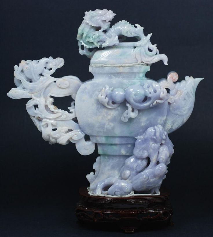 Image Detail for - lavender jade dragon teapot hand carved chinese lavender jade teapot ...