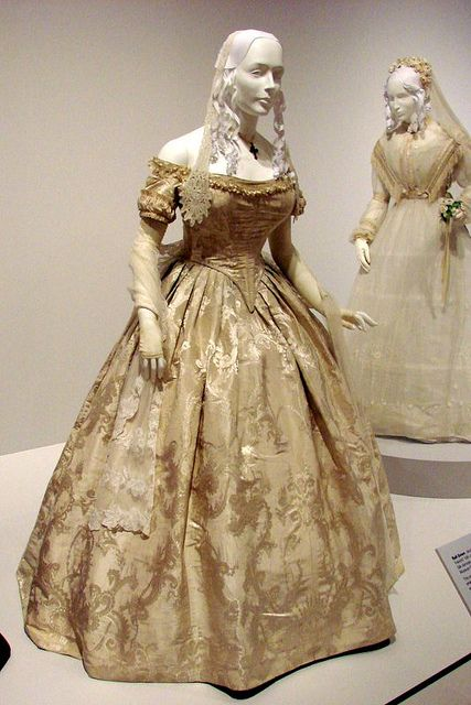 Worn by Harriet Lane, niece of President James Buchanan who acted as his First Lady for her bachelor Uncle. Fashion Exhibit Mint Museum RAND...