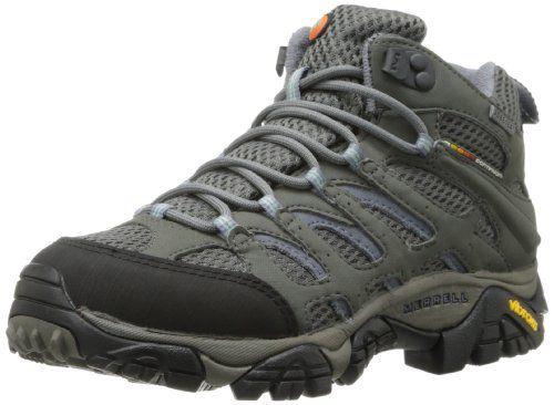 Merrell Women's Moab Mid Gore-Tex Boot,Grey/Periwinkle,10 M US Merrell,http://www.amazon.com/dp/B0015HN8R4/ref=cm_sw_r_pi_dp_KWjatb1QK9TWH509