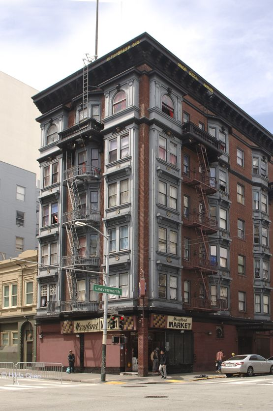 An Apartment Building In The Tenderloin Neighborhood San Francisco Ca