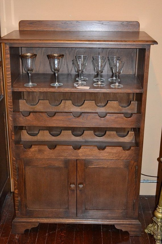 Mission Oak Wine Cabinet Wine Rack And Wine By