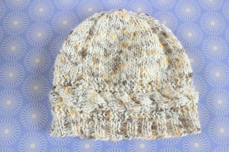 Winter Baby Hat, Tweed Baby Hat, Unisex Baby Hat, Baby Xmas Gift, Hand Knit Hat, Stocking Filler,Cable Knit Hat,Cute Baby Hat,New Baby Gift by Pinknitting on Etsy