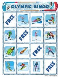 winter olympics bingo card1 231x300 Free Winter Olympics Bingo Game