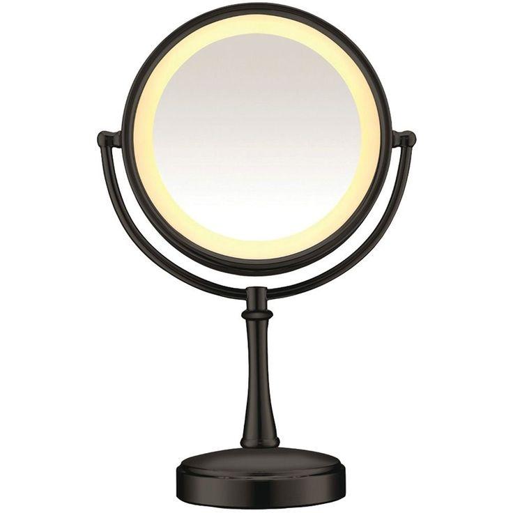 New Conair Touch Control Fog Free Rotatable Lighted Mirror-Matte Black #CONAIR