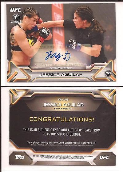 Mixed Martial Arts MMA Cards 170134: 2016 Topps Ufc Knockout Jessica Aguilar Rc Auto Sp 159 249 1St Autograph -> BUY IT NOW ONLY: $99 on eBay!