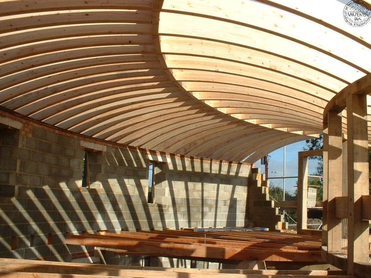 Curved Glulam Roof Round Amp Octagon Barns Or House