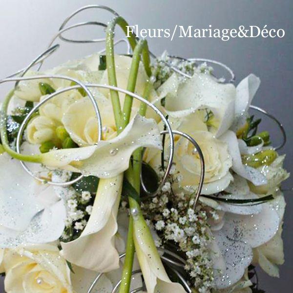 Awesome Bouquet De Mariee Blanc #12: Bouquet De Mariée Cascade Blanc/vert