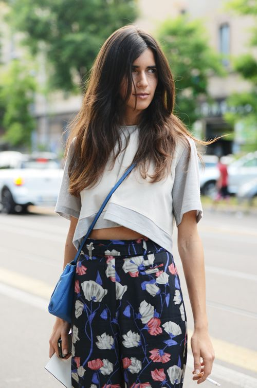 cropped tops  + high waists