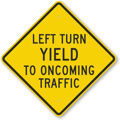 Yield Ahead Signs
