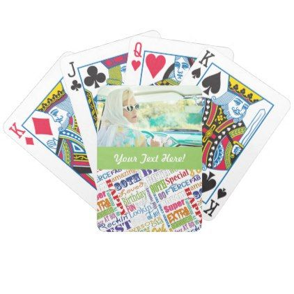 Unique And Special 80th Birthday Party Gifts Bicycle Playing Cards - birthday gifts party celebration custom gift ideas diy