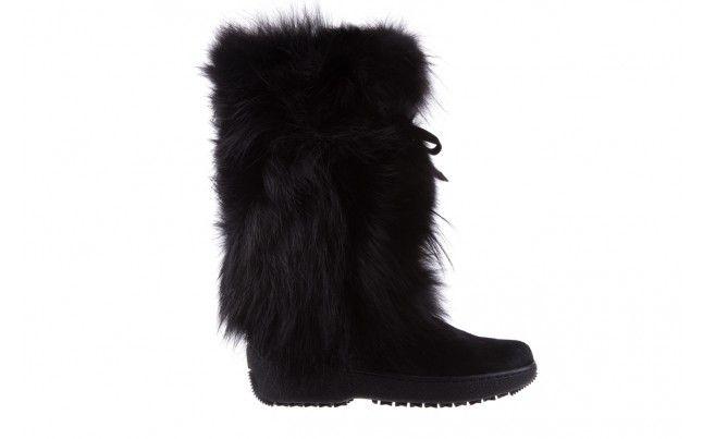Oscar Volpe Nero Sniegowce Wloskiej Marki Oscar Wykonane Z Futra Naturalnego Ocieplone Welna Owcza Wyprodukowane Recznie We Wloszech I Boots Shoes Fashion