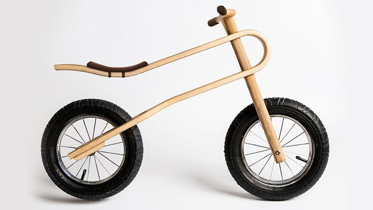 Kids Will Always Have a Comfy Ride On this Curvy Plywood Balance Bike
