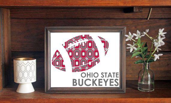 Ohio State University OSU Buckeyes Football Print