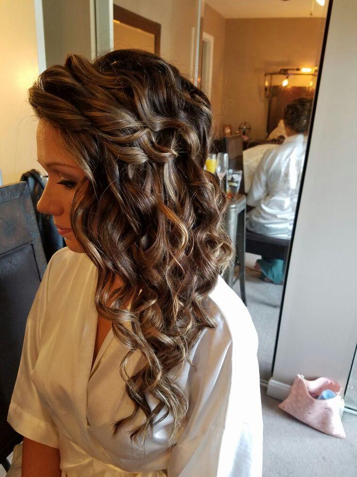 Bridal Hair , curls, long hair, bride
