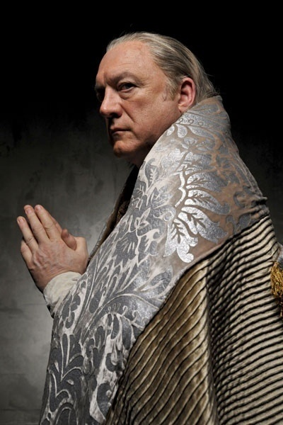 John Doman as the pope Rodrigo Borgia