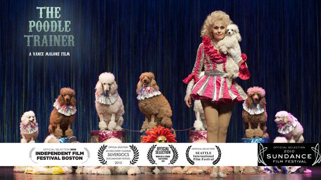 "In this intimate portrait of destiny, passion, and loss, Irina Markova, a solitary Russian poodle trainer, reveals her transcendent relationship with her dogs, the childhood tragedy that sparked a lifetime of working with animals, and the welcome isolation behind the red velvet curtains of the circus.    Multi festival favorite, the Poodle Trainer received a special Jury award from AFI/Silverdocs, ""for a film that packs humor and tragedy into a subtle a…"