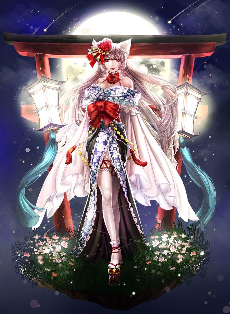 Kimono Painting Yokai White