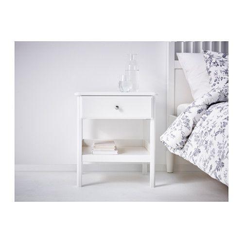 Tyssedal bedside table white 51x40 cm mesita de noche - Ikea mesitas de noche y comodas ...