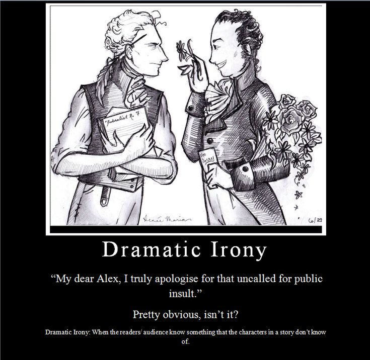 What is irony in literature?