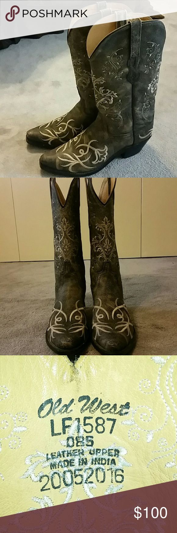 Ladies Old West boots Very cute boots! Only worn once for a wedding. Still in perfect condition! Old West Shoes