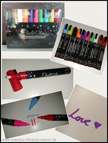 10er Pack neonfarbene Kreidestifte von Chalkola - Kreiere Dein Leben-Mandys Lifestyle Report