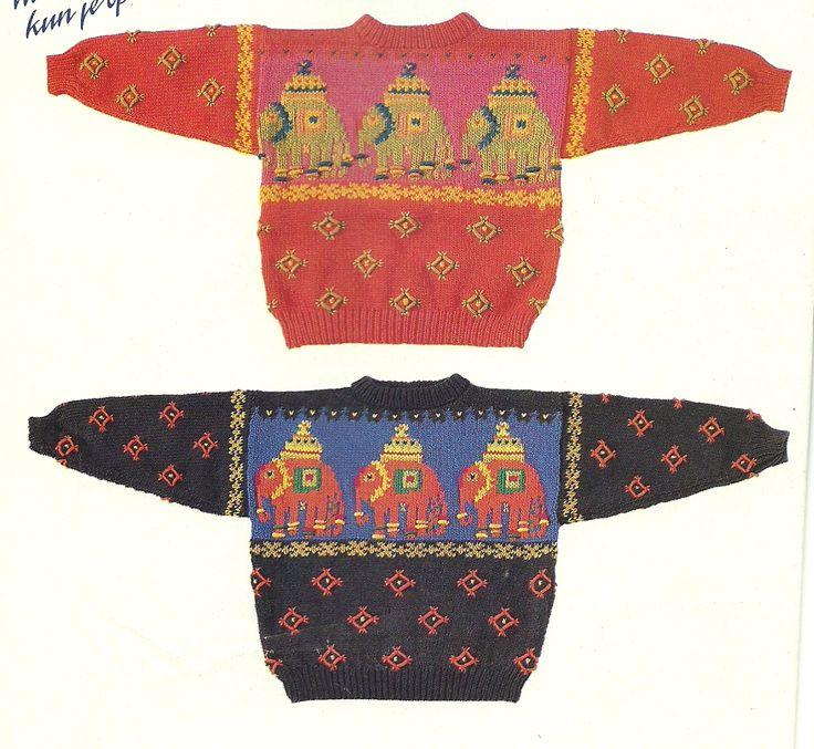 DIY via Marktplaats. Oilily trui breien in de maten 104 - 116 - 128 en 140.