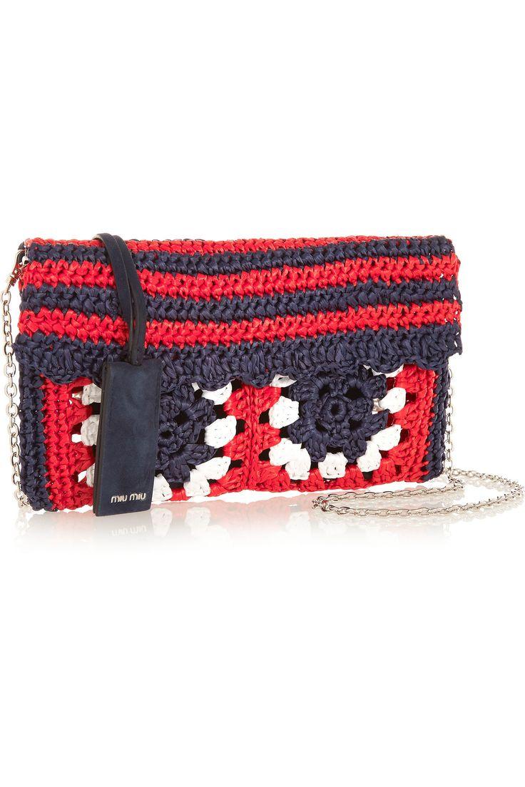 MIU MIU Raffia and suede shoulder bag €550.00 http://www.net-a-porter.com/products/551711