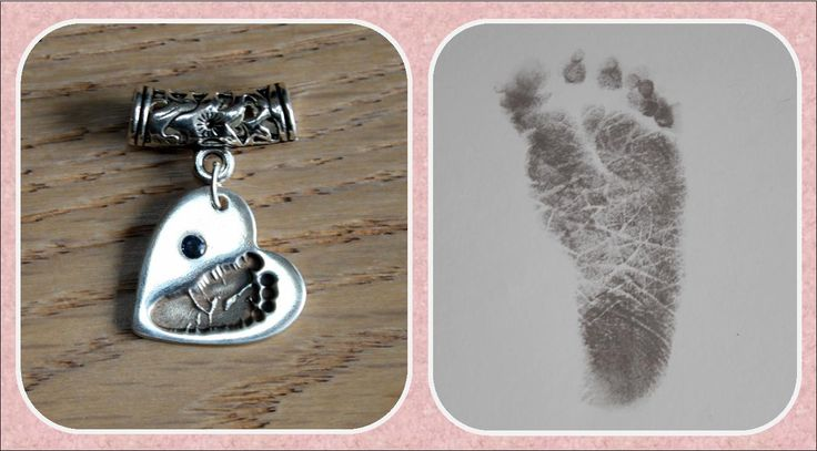 Solid silver baby footprint pendant with birthstone  www.facebook.com/MistyMornings