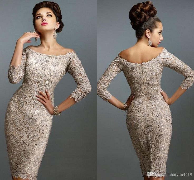 2015 Evening Dresses Top Lace Paolo Sebastian With Bateau Long Sleeves Backless Sash Sheath Knee Length Custom Sexy Prom Pageant Party Gowns Ladies Evening Wear Ladies Gowns From Bridal_gowns, $103.48| Dhgate.Com