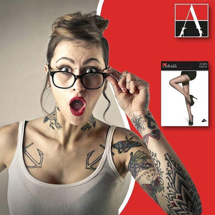 Model Isabelle to połączenie delikatności i subtelności z motywem tatuaży o charakterze kwiatowym. #adrianinspired #adrianinspiruje #rajstopyadrian #rajstopy #tights #new #collection #tattoo #flower #fashion #trendy
