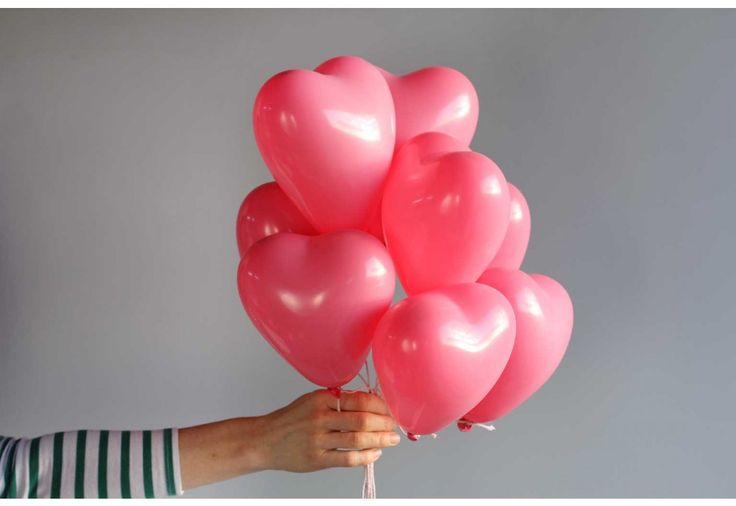 Set of 8 small heart balloons - rose - Small heart balloons - Heart balloons - Balloons - DECORATE
