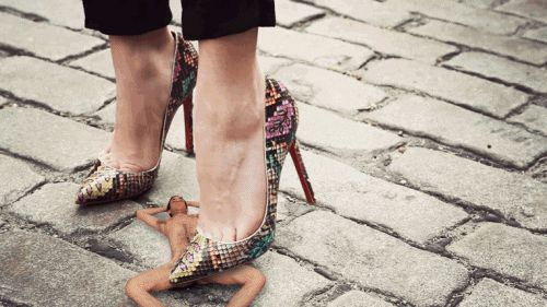 Shoejob with christian louboutin high heels cum on shoes - 1 2