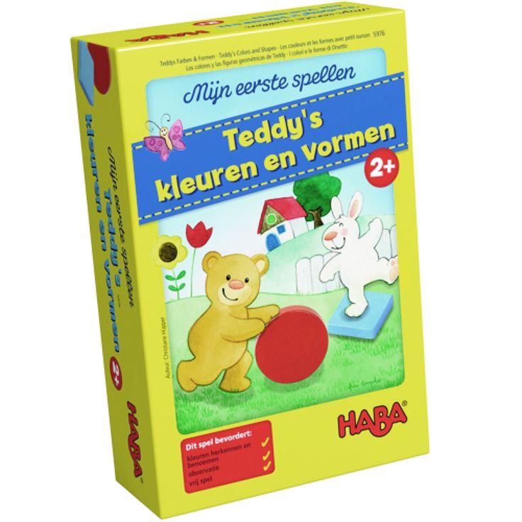 haba mijn eerste spellen - teddy's kleuren en vormen   ilovespeelgoed.nl