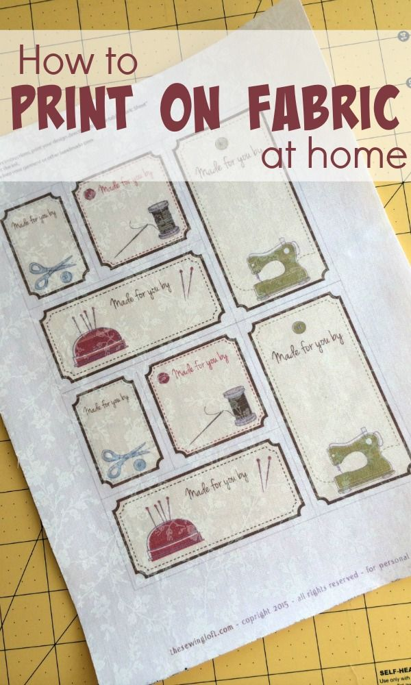 Printing on fabric at home - The Sewing Loft