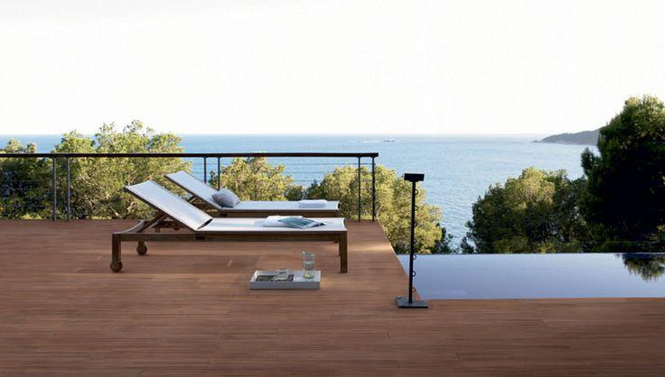 ... carrelage terrasse imitation bois de coloris teka un design moderne