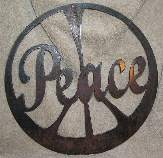 The Peace SignMetal Wall or Garden by frolicnfriends on Etsy, $20.00