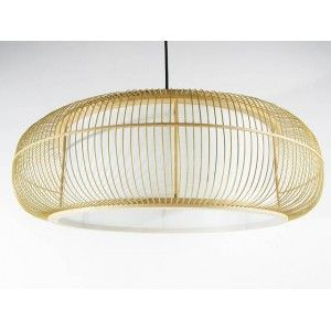 Suspension japonaise en lattes de bambou et papier 179 00 for Suspension luminaire papier