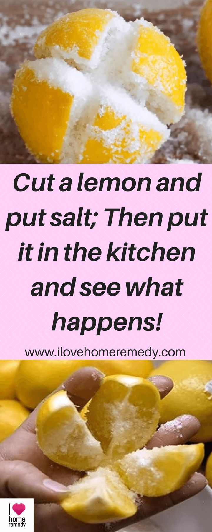 Cut a lemon and put salt; Then put it in the kitchen and see what happens