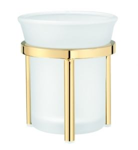 Golden toothbrush tumbler from Fontana collection is made of high quality brass galvanized either with 24-karat gold, chrome to a high gloss or is covered with an oxidated coating of 'old gold'. Golden bathroom accessories  http://www.sanco-polska.pl/golden-toothbrush-tumbler-fontana-90101-p-1794.ht