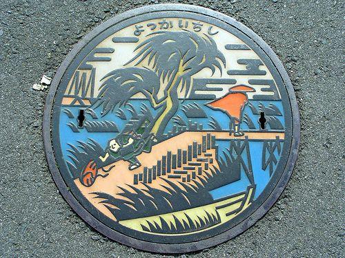 Yokkaichi city, Mie pref manhole cover(三重県四日市市のマンホール) by MRSY, via Flickr