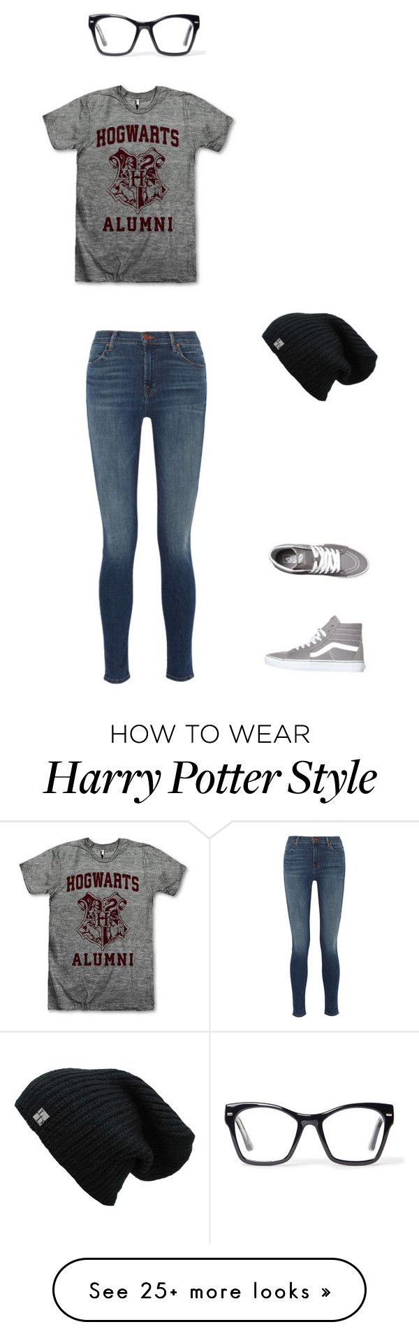 """Harry Potter"" by sstark16 on Polyvore featuring Spitfire, J Brand and Vans"