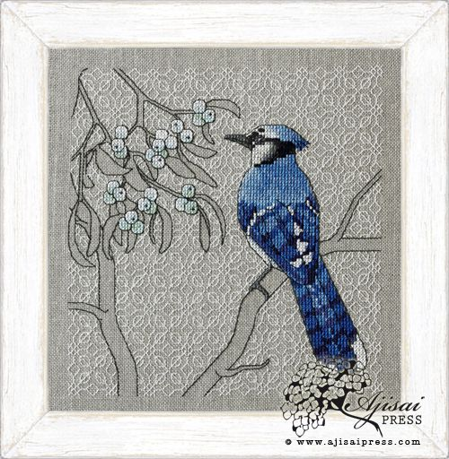 Blue Jay and Mistletoe via http://www.ajisaipress.com/