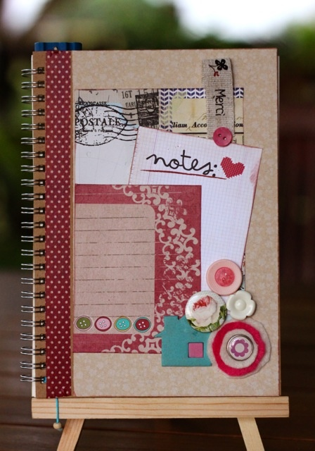 Altered Notebook - Pink Notes