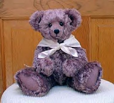 Purple Mohair Teddy Bear